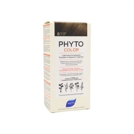 Phyto Color Coloration Permanente 8 Blond Clair pas cher, discount