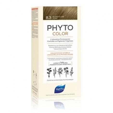 Phyto Color Coloration Permanente 8.3 Blond Clair Doré pas cher, discount