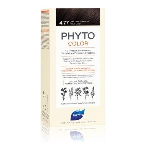 Phyto Color Coloration Permanente 4.77 Châtain Marron Profond pas cher, discount