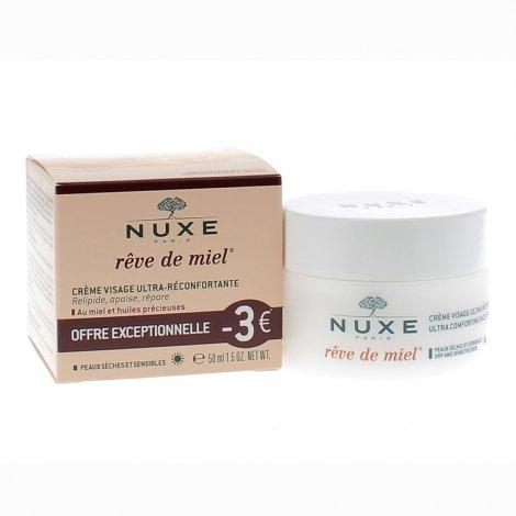 Nuxe Rêve de Miel Crème Visage Ultra-Réconfortante 50ml OFFRE EXCEPTIONNELLE pas cher, discount
