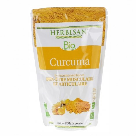Herbesan Bio Curcuma 200g pas cher, discount