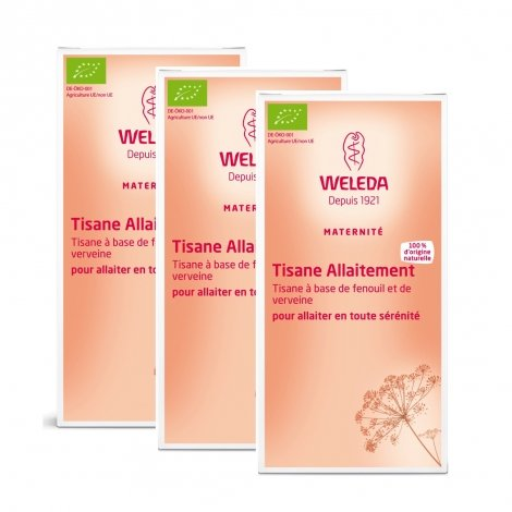 Weleda Triopack Tisane Allaitement Bio 20 Sachets x3 pas cher, discount