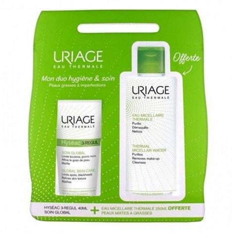 Uriage Hyseac 3-Regul 40ml + Eau Micellaire Peau grasse 250ml OFFERTE pas cher, discount