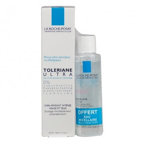 La Roche Posay Toleriane Ultra Fluide Apaisant Intense Visage & Yeux 40ml + Eau micellaire Ultra 50ml OFFERTE pas cher, discount