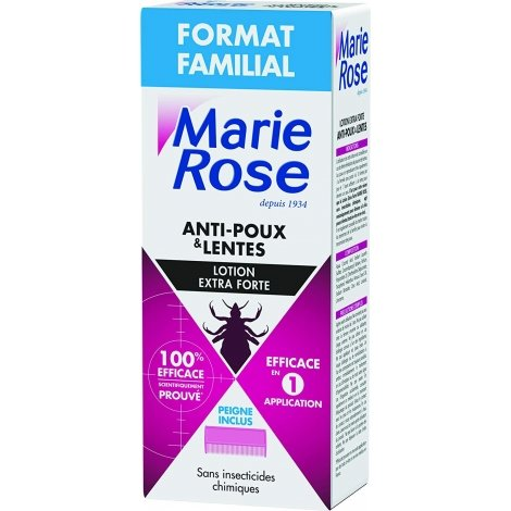 Marie Rose Lotion Extra Forte Anti-Poux & Lentes Pack Familial 200ml pas cher, discount
