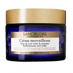Sanoflore Crème Merveilleuse Soin de Jour Riche et Puissant Raffermissant Anti-Rides 50 ml