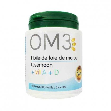 OM3 Huile de Foie de Morue Vitamine A + D  120 capsules pas cher, discount