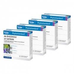 Pileje Phytostandard Rhodiole/ Safran 3+1 GRATUIT - LOT de 4x 30 Comprimés