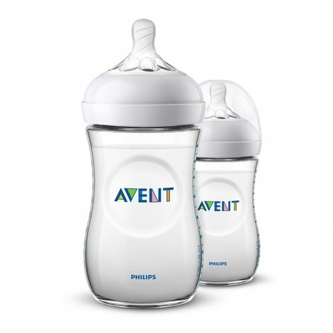 Philips Avent Natural 2 Biberons Col Large 260ml pas cher, discount