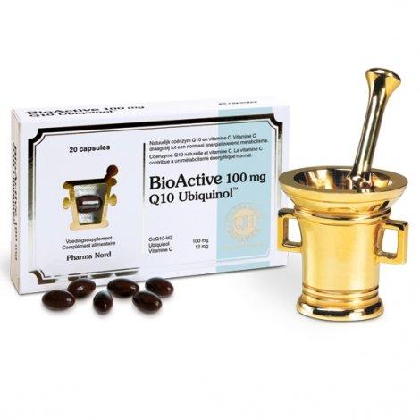 Pharma Nord BioActive 100mg Q10 Ubiquinol 20 capsules pas cher, discount