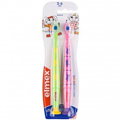 Elmex Brosse à Dents Enfant Souple 3 - 6 ans (couleurs variables) pas cher, discount