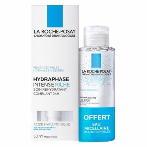 La Roche Posay Hydraphase Intense Riche 50ml + Eau Micellaire 50ml OFFERT pas cher, discount