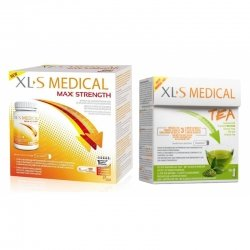 XLS Medical Pack Max Strength/Extra Fort (120 comprimés) + Thé (30 pièces)