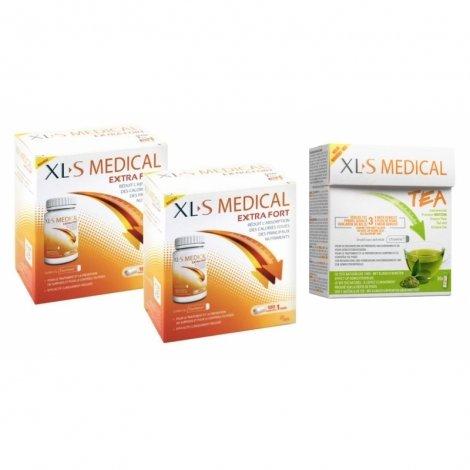 XLS Medical Pack Max Strength/Extra Fort (2x120 comprimés) + Thé (30 pièces) pas cher, discount