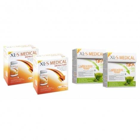 XLS Medical Pack Max Strength/Extra Fort (2x120 comprimés) + Thé (2x30 pièces) pas cher, discount