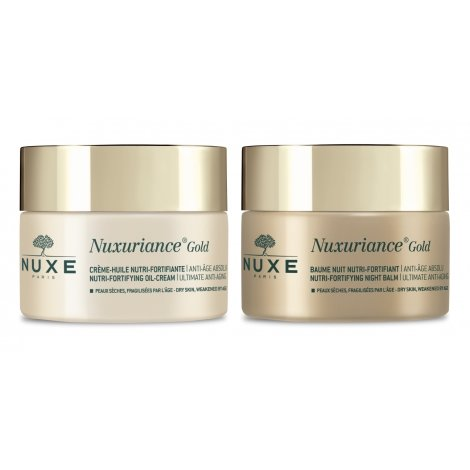 Nuxe Pack Routine Nuxuriance Gold Crème Huile 50ml + Baume Nuit 50ml pas cher, discount