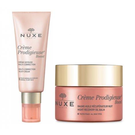 Nuxe Pack Routine Crème Prodigieuse Boost Crème Soyeuse (peau sèche) + Baume Nuit pas cher, discount