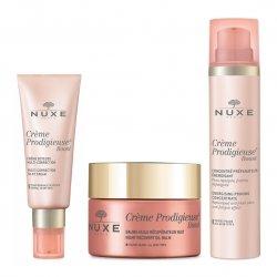 Nuxe Pack Routine Crème Prodigieuse Boost Crème Soyeuse (peau sèche) + Baume Nuit + Concentré