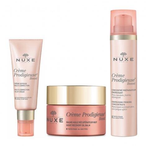 Nuxe Pack Routine Crème Prodigieuse Boost Crème Soyeuse (peau sèche) + Baume Nuit + Concentré pas cher, discount