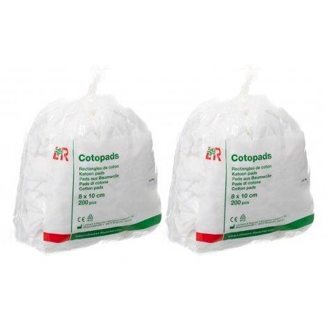 Cotopads Duo Pack Pièce de Coton 8x10cm (2x200) pas cher, discount