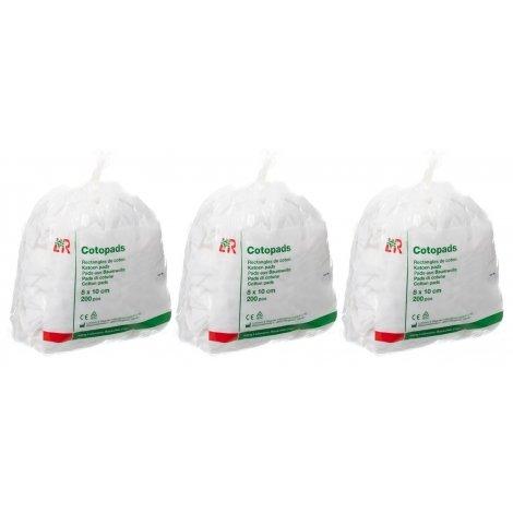 Cotopads Trio Pack Pièce de Coton 8x10cm (3x200) pas cher, discount