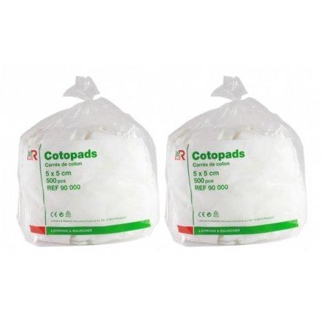 Cotopads Duo Pack Pièce de Coton 5x5cm (2x500) pas cher, discount