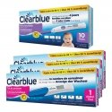 Clearblue 10 Tests D'ovulation Digital 2 Hormones + Clearblue 3 tests de grossesse indicator