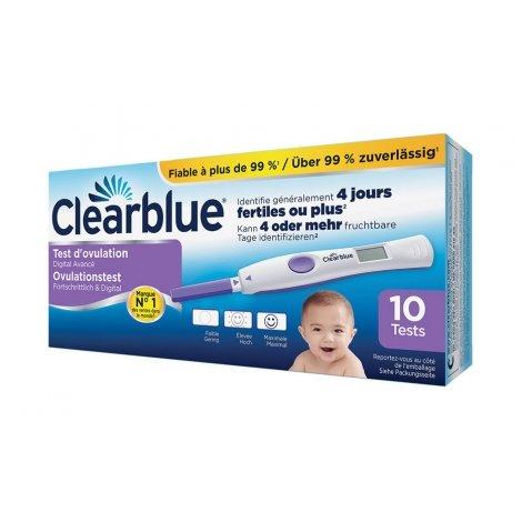 Clearblue Test D'ovulation Digital 2 Hormones - Boîte de 10 pas cher, discount