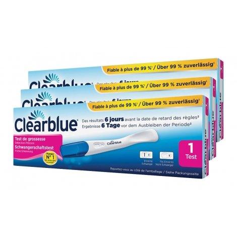 Clearblue Trio Pack Test de Grossesse à Détection Précoce 3 pièces pas cher, discount