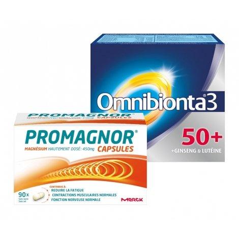 Omnibionta Pack Omnibionta 3 50+ 30 comp + Promagnor Magnésium 90 caps pas cher, discount