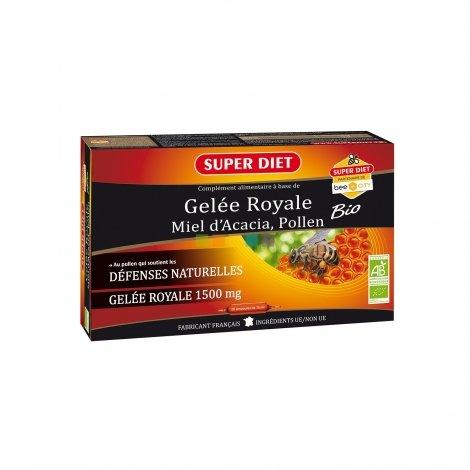 Superdiet Gelée Royale Miel Pollen Bio 20 ampoules de 15ml  pas cher, discount