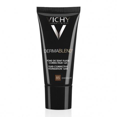 Vichy Dermablend Fond de Teint Fluide Correcteur 16H Chocolate 85 30ml pas cher, discount