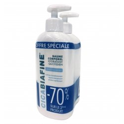 Cica Biafine Baume Corporel Hydratant Quotidien 400ml x 2