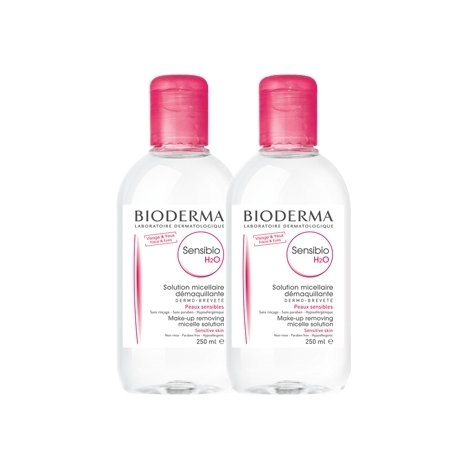 Bioderma Duo Pack Sensibio H2O Solution Micellaire Peaux Sensibles 2x250ml pas cher, discount