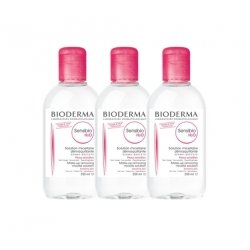 Bioderma Trio Pack Sensibio H2O Solution Micellaire Peaux Sensibles 3x250ml