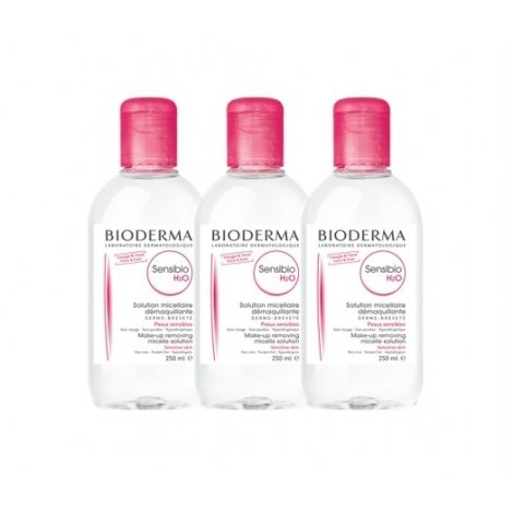 Bioderma Trio Pack Sensibio H2O Solution Micellaire Peaux Sensibles 3x250ml pas cher, discount