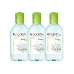 Bioderma Trio Pack Sebium H2O Solution Micellaire 3x250ml