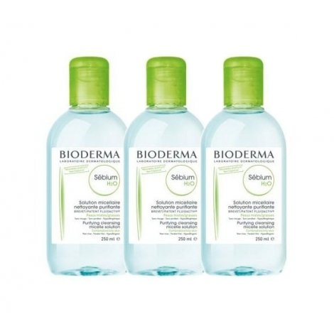 Bioderma Trio Pack Sebium H2O Solution Micellaire 3x250ml pas cher, discount