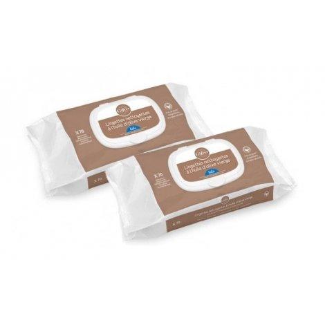 Gifrer Duo Pack Lingettes Nettoyantes à l'Huile d'Olive Vierge 2x70 pas cher, discount