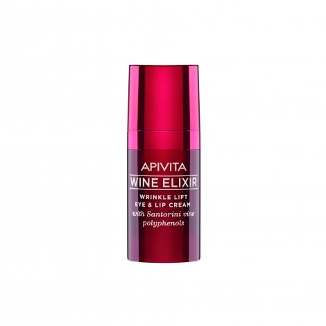 Apivita Wine Elixir Crème Anti-Rides Yeux Levres 15ml pas cher, discount