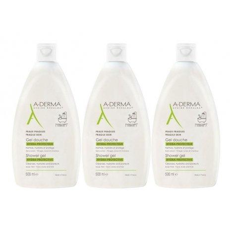 A-derma Trio Pack Gel Douche Hydra-Protecteur 3x500ml pas cher, discount
