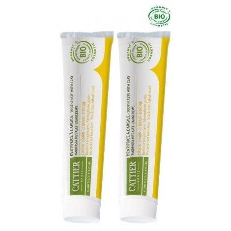 Cattier Duo Pack Dentargile Dentifrice Citron 2x75ml pas cher, discount