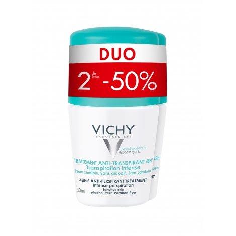 Vichy Déodorant Anti-Transpirant Transpiration Intense 48H Roll on Lot de 2x50ml pas cher, discount