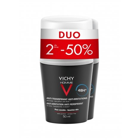 Vichy Homme Déodorant 48H Roll-On Lot 2 X 50 ml pas cher, discount