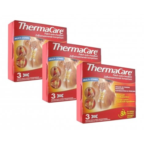 Thermacare Trio Pack Patchs Chauffants Multi-Zones 3x3 patchs pas cher, discount