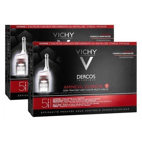 Vichy Dercos Aminexil Clinical Duo Pack 5 Hommes Traitement Anti-Chute 2x21x6ml pas cher, discount