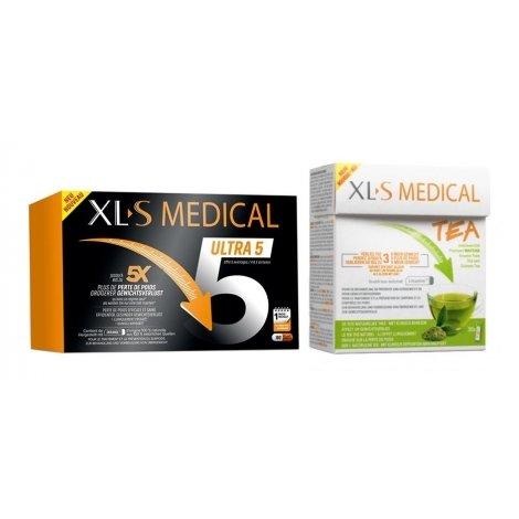 XLS Medical Pack Force 5 / Ultra 5 180 gélules + Thé (30 pièces) pas cher, discount