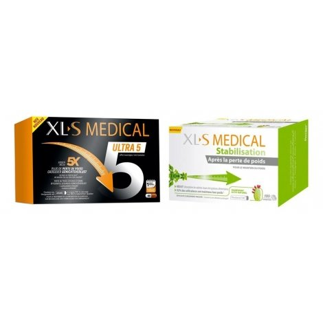 XLS Medical Pack Force 5 / Ultra 5 180 gélules + XLS Medical Stabilisation 180 comprimés pas cher, discount