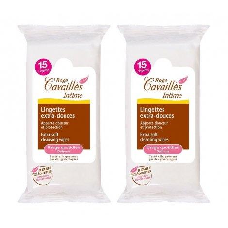 Rogé Cavaillès Duo Pack Lingettes Intimes Protection Extra-Doux 2x15 pièces pas cher, discount