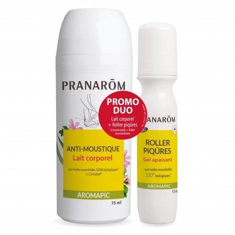 Pranarôm Promo Duo Aromapic Anti-Moustiques Lait Corporel 75 ml + Roller Piqûres 15ml pas cher, discount